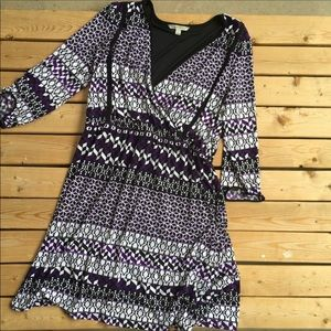 NWT 41 hawthorn purple geometric dress